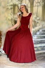 GOTICO abito medievale Con Laccetti Rosso L 40 42 cotone NUOVO