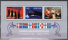 Europa Sympathy 1993 Faeröer blok 6 10 jaar Huis van het Noorden cat wrd € 4,50