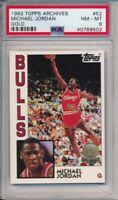 1992-93 Topps Archives Michael Jordan Gold Card #52 PSA 8 Chicago Bulls #9502
