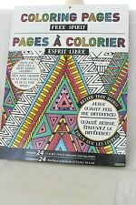 """FREE SPIRIT Coloring Pages 24 Pages 14"""" x 11"""" Book  NEW  Paper thick, Artist !"""