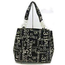 Chanel Tote Bag  Black Canvas 1603233