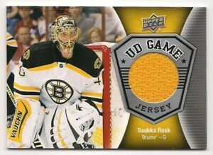 Tuukka Rask 16-17 Upper Deck 1 UD Game Jersey Game Used Jersey
