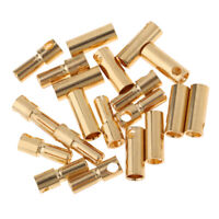 Heavy Duty 5.5MM Bullet to EC5 Female Connector Adapter 10AWG for RC ESC 5 Pack