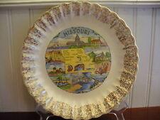 SHOW ME STATE! Vintage Porcelain Missouri State Plate