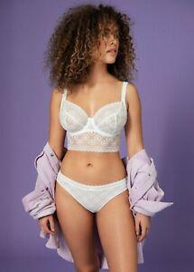 FREYA Love Note Underwire Non-Padded Bralette Bra White 30I #5214 NEW $64