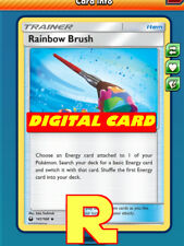 2x Rainbow Brush - for Pokemon TCG Online ( DIGITAL ptcgo in Game Card)