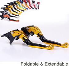Folding&Extending Brake Clutch Lever For Yamaha FZS 600 Fazer 1998-2003 Golden