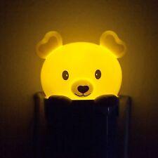 Lovely Bear LED Auto Light Sensor Nightlight Lamp Home Room Decor *USA*