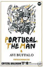 PORTUGAL, THE MAN /AVI BUFFALO 2013 PORTLAND CONCERT TOUR POSTER - Alaska Rocks!
