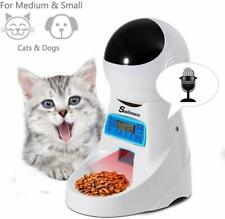 Automatisch 4L Futterautomat Futterspender Katze Hund Pet Feeder + LCD Timer NEU