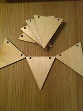 x10 wooden small bunting, crafts, wedding, party