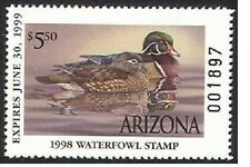 AZ12   1998  Arizona  State Duck Stamp       DSS