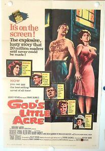 TINA LOUISE • GOD'S LITTLE ACRE • 1958 • ONE-SHEET • FINE+ • Folded • Original