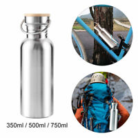 350/500/750ml Stainless Steel Drinking Sports Cycle Water Bottle Water Gym Cup