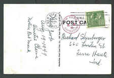 1949 PPC* NY CHINATOWN RED CANCEL ON CHINESE TEMPLE IN HIP SING BLDG SEE INFO
