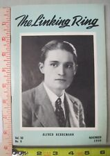 Linking Ring Vol 30 #9 November 1950 Digest Size Magic Magazine Alfred Herremann