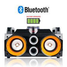 More details for ghetto blaster speaker system retro portable boombox bluetooth usb