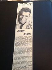 65-4 Ephemera 1960 Article Jimmy Jones Pop Singer Handy Man