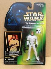 Star Wars Kenner POTF (1996) Luke Skywalker in Stormtrooper Suit, GREEN CARD