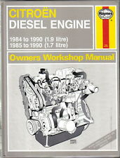 Citroen Diesel 1.7 & 1.9 litre 1984-90 Workshop Manual - Visa C15  & BX models