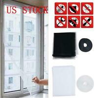 White Home Window Screen Mesh Net Insect Fly Bug Mosquito Moth Door Netting US