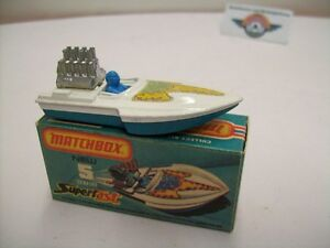 "Matchbox Superfast, Nr.5, Seafire Boat ""Aufkleber"", white/blue, 1975"