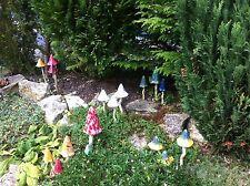 BIRTHDAY GIFT IDEA Tinkling Toadstools Spring Pink mushroom garden ornaments