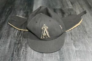New Era 59fifty Anaheim Angels MLB Cap Hat Fitted With Ear Flaps Size 7 1/2