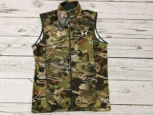Under Armour UA Off Grid Zephyr Fleece Camo size medium Vest Forest 1316864 940