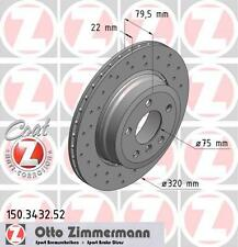 ZIMMERMANN 150.3432.52 REAR SPORT BRAKE DISCS PAIR (COAT Z)