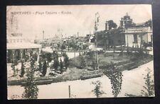 1916 Montevideo Uruguay Rppc Postcard cover To New York Usa Capurro Beach