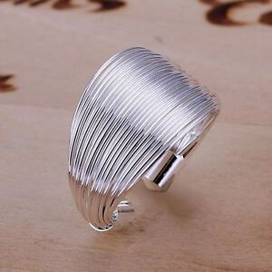 925 STERLING SILVER PLATED ADJUSTABLE FINGER/THUMB RING WIRE BAND