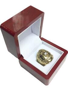 1952 Detroit Lions NFL Super Bowl 18k GP Brass Championship Ring & Wood Box