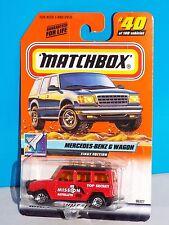 Matchbox 2000 Space Explorer Series #40 First Edition Mercedes-Benz G Wagon Red