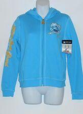 Bobby Jack Girls Embellished Hoodie Sweat Jacket + Key Chain Turquoise S/7-8 NWT