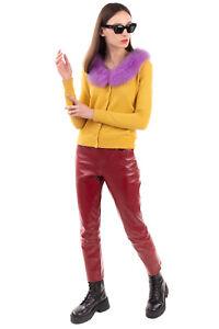 RRP €415 BLUGIRL BLUMARINE Cardigan Size 38 / 2XS Cashmere & Wool Blend Fox Fur