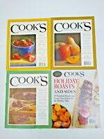 Lot of 4 Cook's Illustrated Chef Recipe Magazines 2009 2013 2015 2017