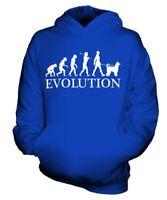 AFGHAN HOUND EVOLUTION OF MAN KIDS HOODIE BOYS HOODY GIRLS DOG KUCHI BALUCHI