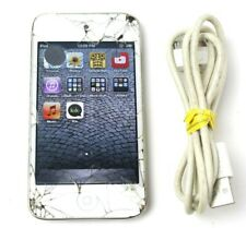 Apple iPod 6.4 Gb White Md057Ll/A Cracked Screen + Power Cord - Tested & Working