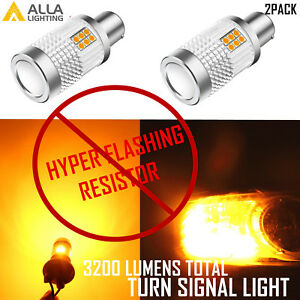 7507 LED Canbus Turn Signal Light Bulb Super Bright Amber No Resistor Required