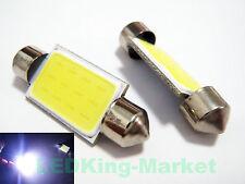 2pcs Bright White 2W COB LED Festoon 41mm 42mm INTERIOR Dome Light 239 272 C5W