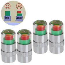 4 X 34 PSI de presión de neumáticos de coche monitor de Vástago de Válvula Alerta Cap Sensor indicador se ajusta