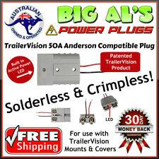 2X 50 Amp Trailer Vision Anderson Compatible Style Plug, No Solder Crimp 12v 24v