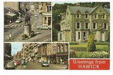 Postcard Hawick Scotland Multiview PM 1980   (A28)