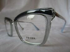 PRADA EYEGLASS FRAME PR15UV KI5101 BLUE GREY & SILVER 50-19-140 NEW & AUTHENTIC