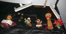 Christmas Ornaments Mixed /Steel Santa's, Reindeer, Fences, Caroler, Straw Lady