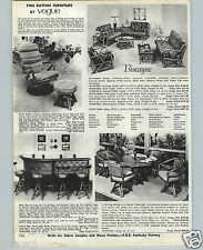 1970 PAPER AD Vogue Biscayne Rattan Patio Furniture Lounge Chair Sofa Rocker