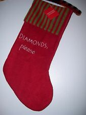 Diamonds Please - Christmas Stocking - New with Tags