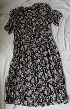 Vintage A.S. Elliott Womens Size 1X Floral Button Down Sheer Dress