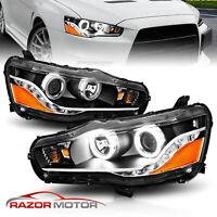 2008-2016  LED Halo Projector Headlights For Mitsubishi Lancer Evo X